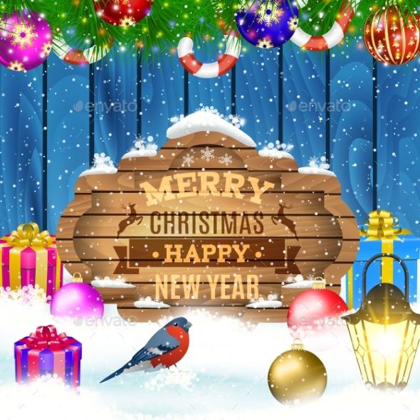 Vector Christmas Greeting Card. - Christmas Seasons/Holidays