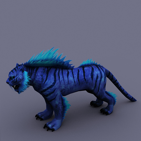 tiger blue 2 - 3DOcean Item for Sale