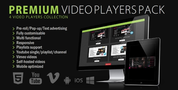 Premium Video Players Bundle - 4 in 1 - CodeCanyon Item for Sale