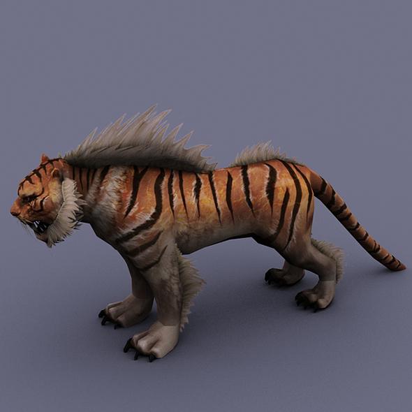 tiger orange - 3DOcean Item for Sale