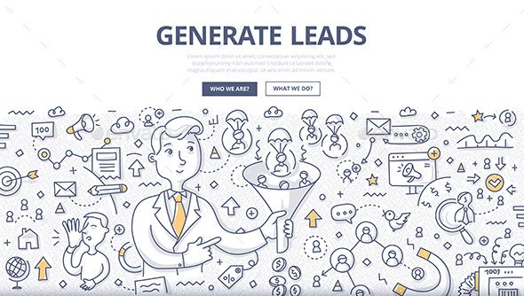 Generate Leads Doodle Concept - Technology Conceptual