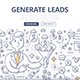Generate Leads Doodle Concept - GraphicRiver Item for Sale