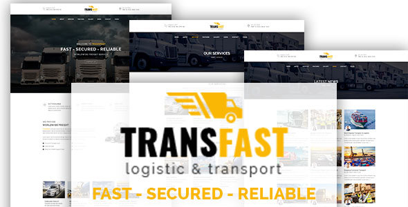 Transfast – Logistic and Transport – HTML Template