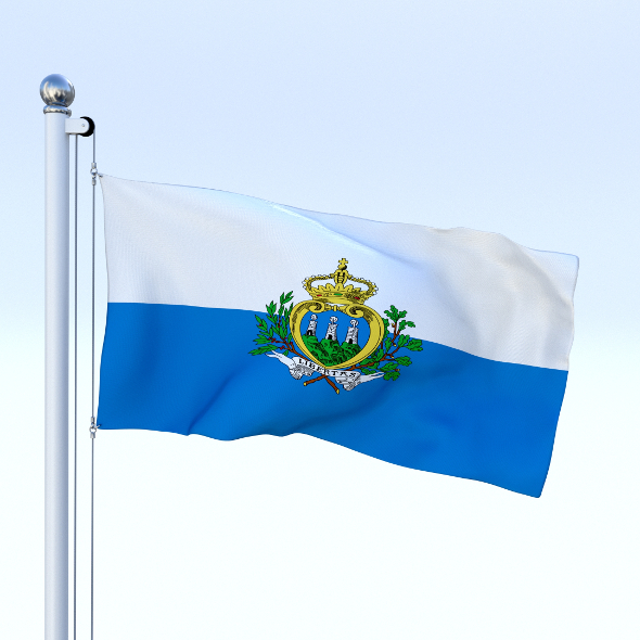 Animated San Marino Flag - 3DOcean Item for Sale