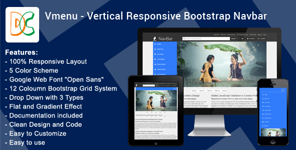DC - Vertical Responsive Mega Nav Menu V1.0 - CodeCanyon Item for Sale