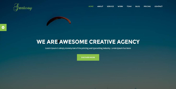 Greatway - Material Design Agency Template - Technology Site Templates