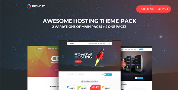 ProHost – Power Pack Hosting Theme