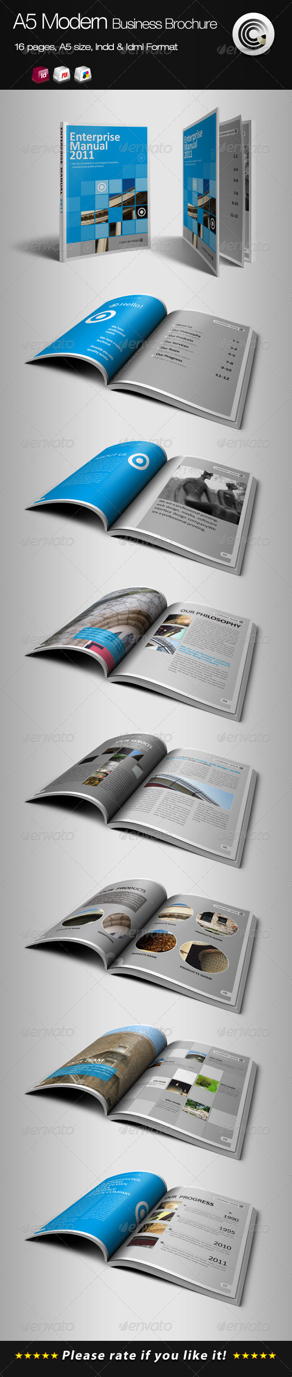 A5 Vertical Modern Business Brochure - Corporate Brochures