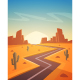 Desert Road - GraphicRiver Item for Sale