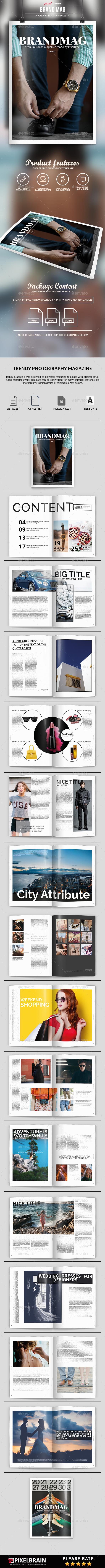 BrandMag Magazine - Magazines Print Templates