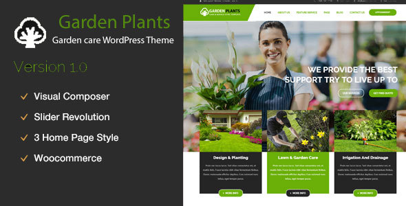 Garden Plants – Gardening, Lawn Care and Landscaping WordPress Theme