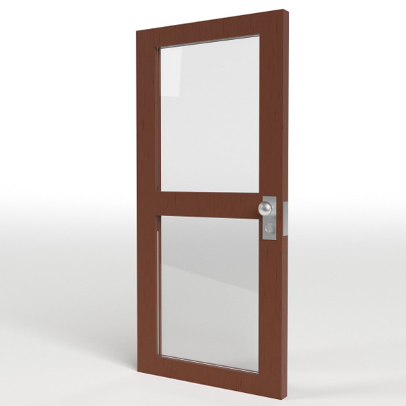 Double Glass Door - 3DOcean Item for Sale
