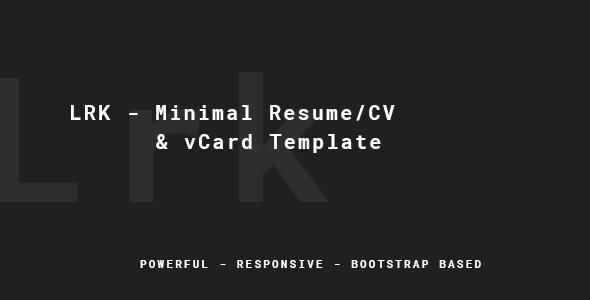 Myers – Responsive vCard / Resume / CV WP Theme