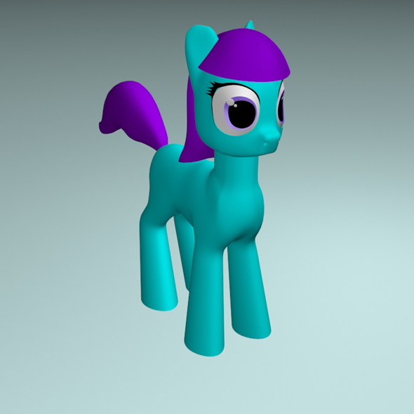 A cute cartoon pony. - 3DOcean Item for Sale