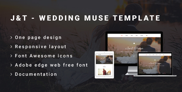 J&T – Wedding Muse Template