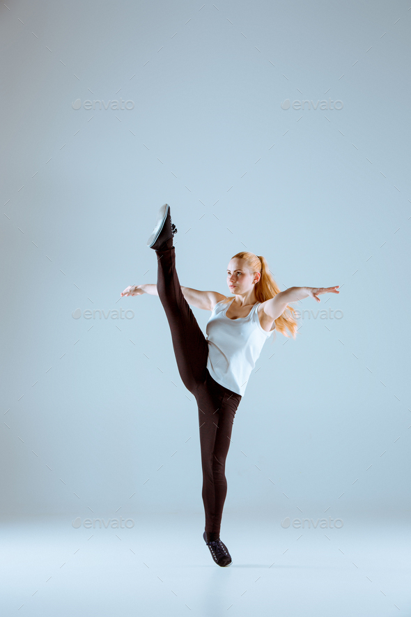 The women dancing hip hop choreography - Stock Photo - Images