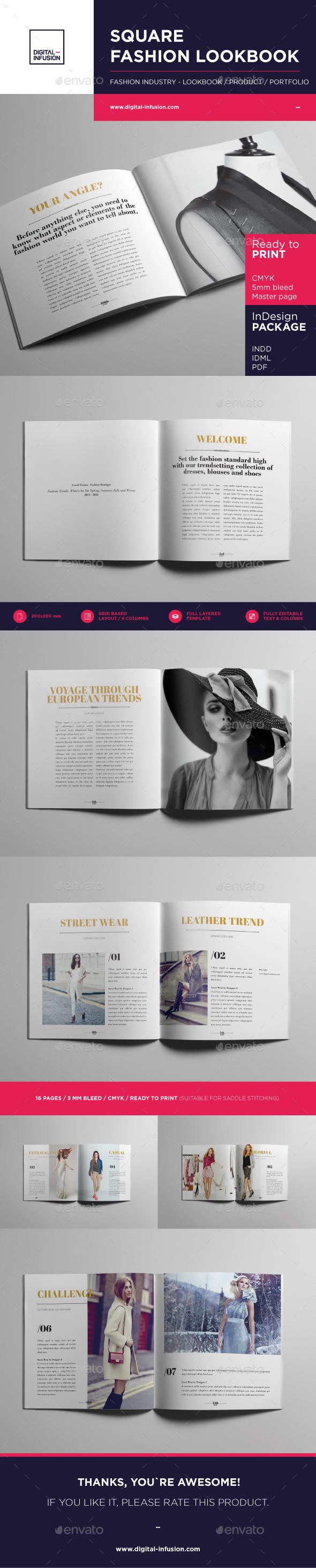 Square Fashion Lookbook / Product Book - Portfolio Brochures