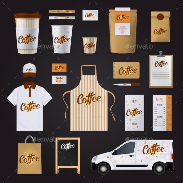 Coffee Corporate Identity Design Set - Business Conceptual