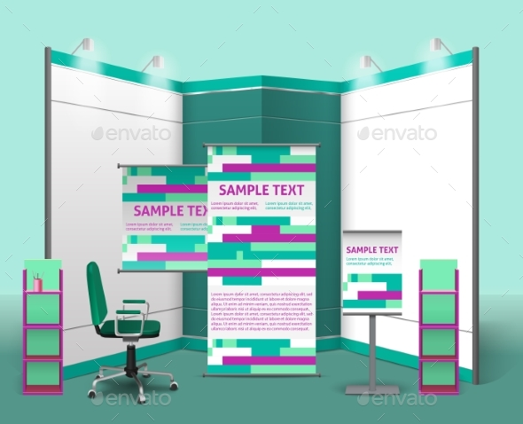 Exhibition Stand Design Template - Abstract Conceptual