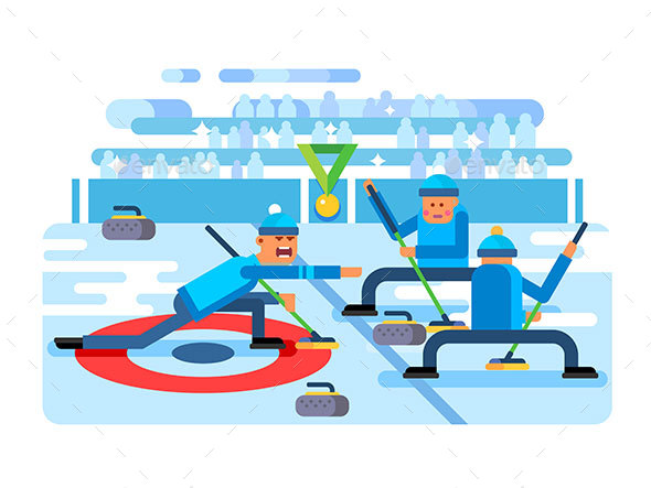 Curling Winter Game - Sports/Activity Conceptual