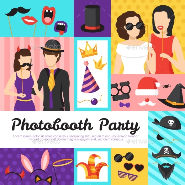 Photo Booth Party Design Concept - Seasons/Holidays Conceptual