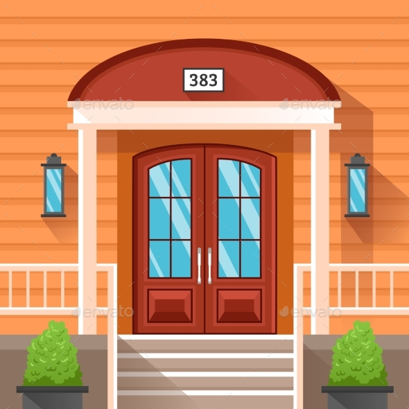 Front Door Of House Decorated By Siding - Backgrounds Decorative