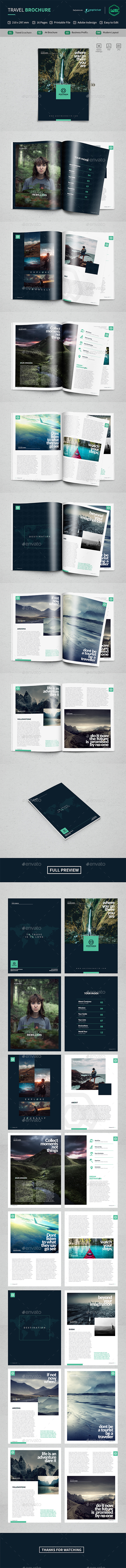 Brochure Travel - Brochures Print Templates