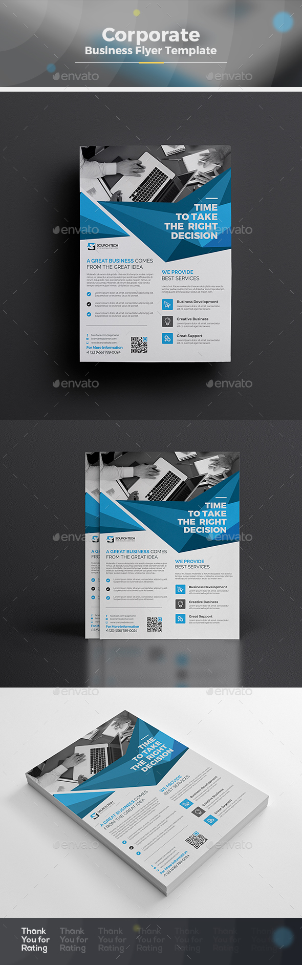 Abstract Flyer Template - Corporate Flyers