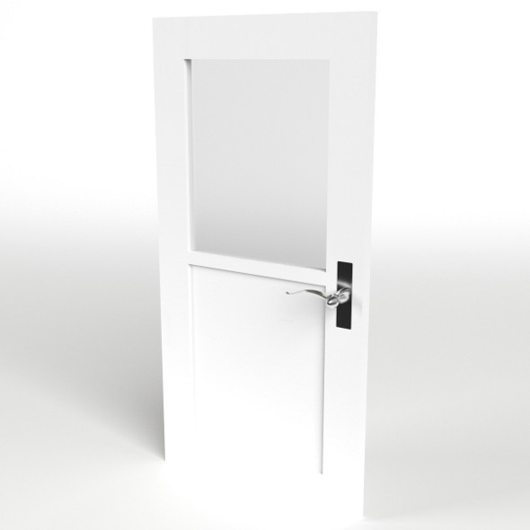 Half Glass Door - 3DOcean Item for Sale