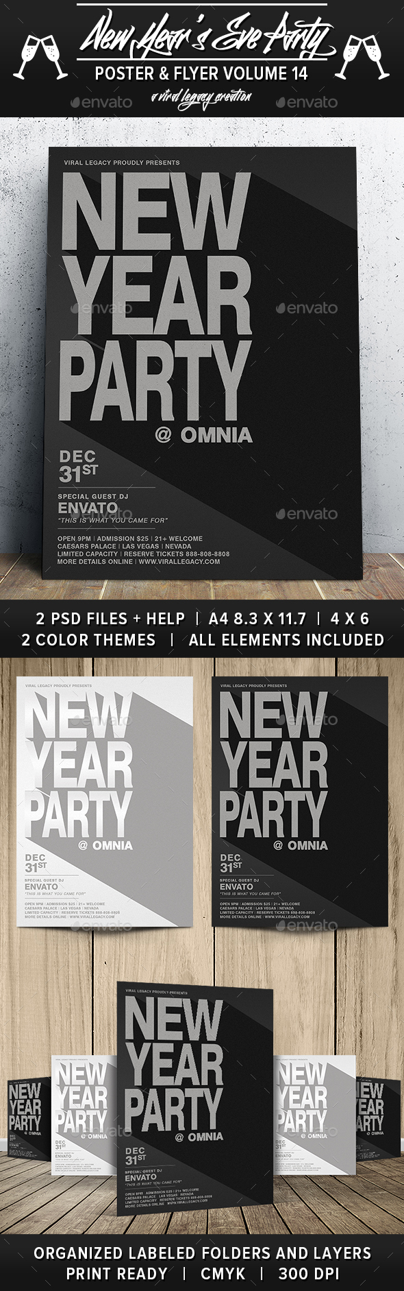 New Year's Eve Party V14 - Flyers Print Templates