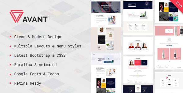 Avant - Creative & Parallax Multipurpose - Portfolio Creative