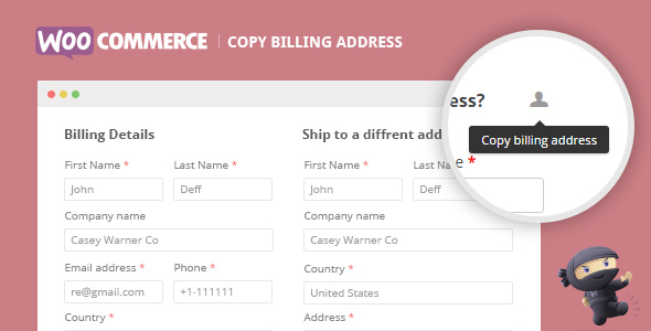 WooCommerce Copy Billing Address - CodeCanyon Item for Sale