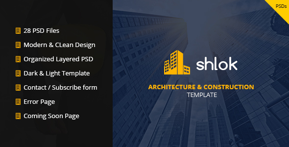 Shlok - Construction and Architect Template - Business Corporate