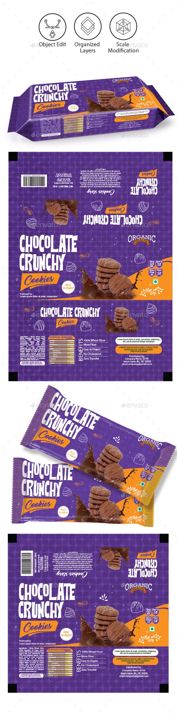Chocolate Cookies Packaging Template - Packaging Print Templates