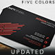 Personal Black Business Card - GraphicRiver Item for Sale