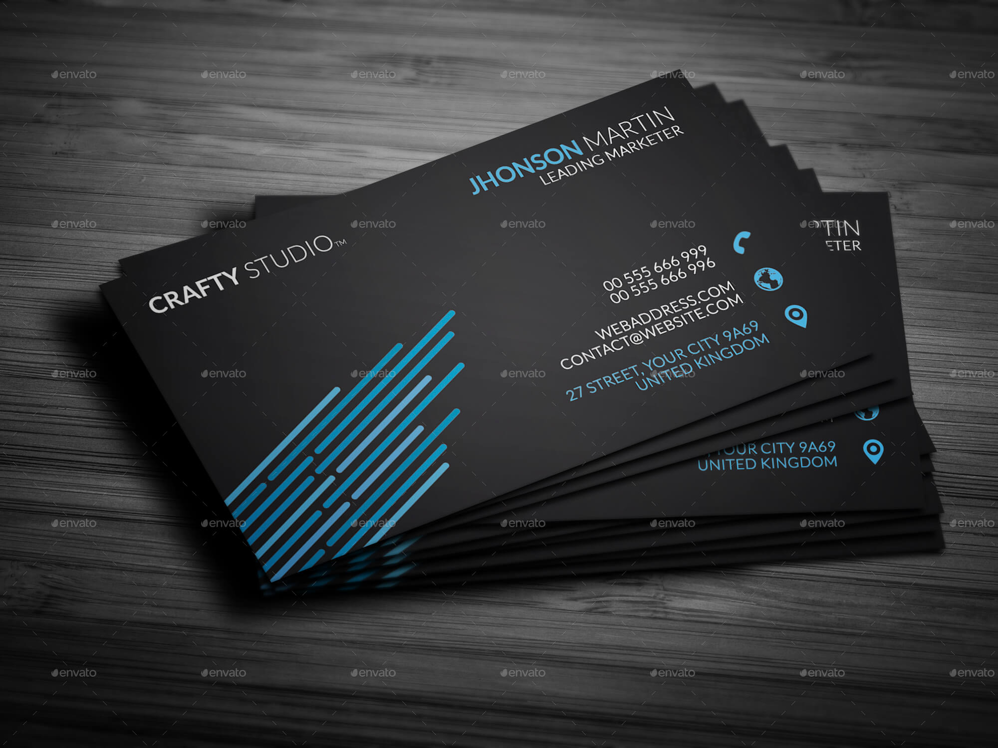 Personal black business card by mrremon graphicriver personal black business card business cards print templates preview image set1g fbccfo Image collections