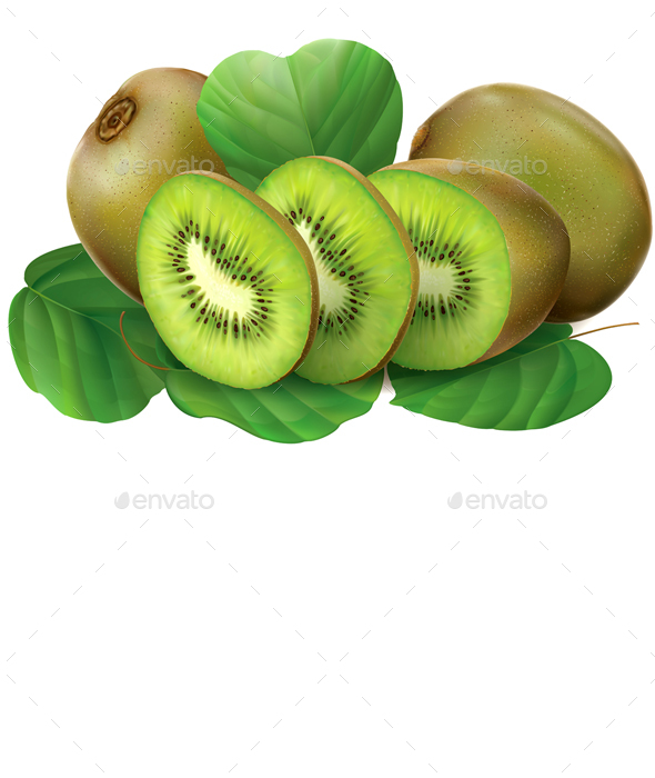 Kiwi Fruits - Food Objects