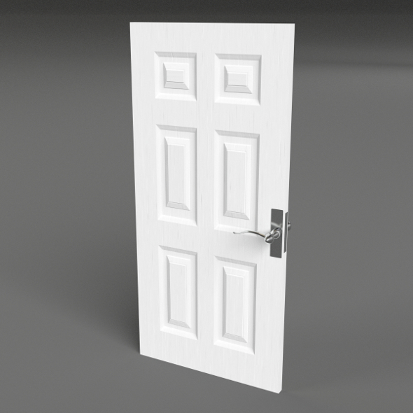 Six Raised Panel Door - 3DOcean Item for Sale