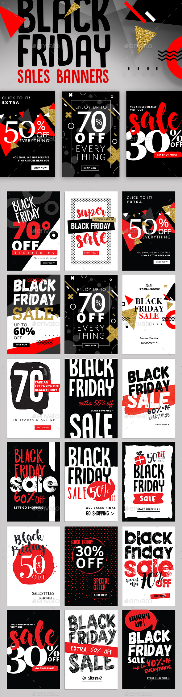 Black Friday Sales Banners - Banners & Ads Web Elements