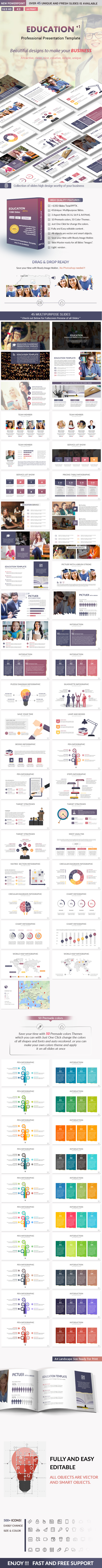 Education powerpoint presentation template by rengstudio education powerpoint presentation template business powerpoint templates toneelgroepblik Images