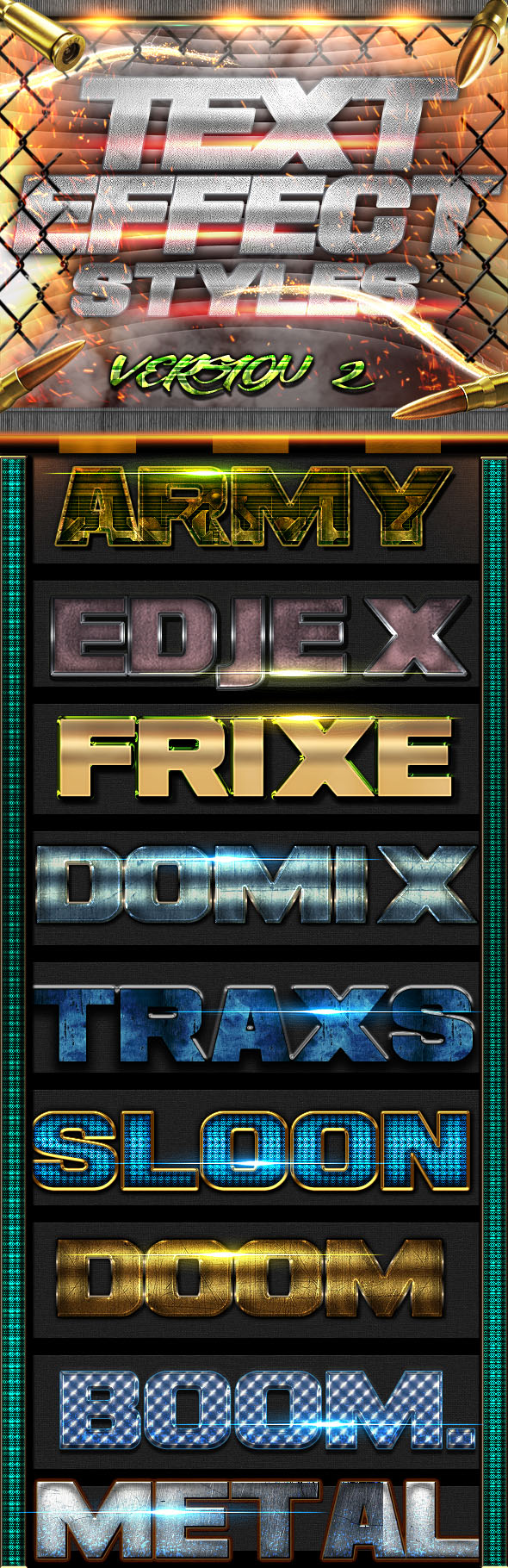 Text Effect Styles FX 2 - Styles Photoshop