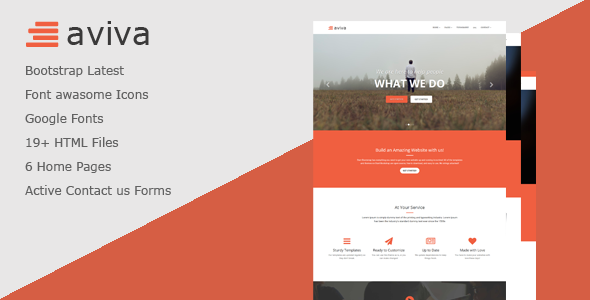 Aviva – Multipurpose HTML Template