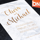 Marbel Wedding Invitation - GraphicRiver Item for Sale