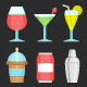 Glass & Beverage Icon set - GraphicRiver Item for Sale