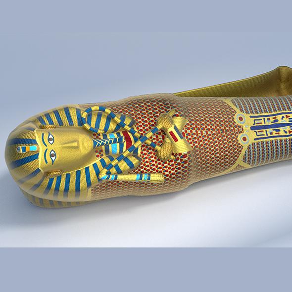 King Tutankhamun Sarcophagus - Game Ready - 3DOcean Item for Sale