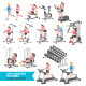 Gym Exercises Machines Sports Equipment - GraphicRiver Item for Sale