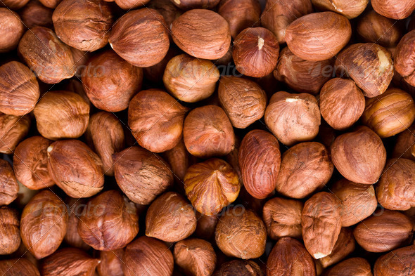 hazelnuts background - Stock Photo - Images