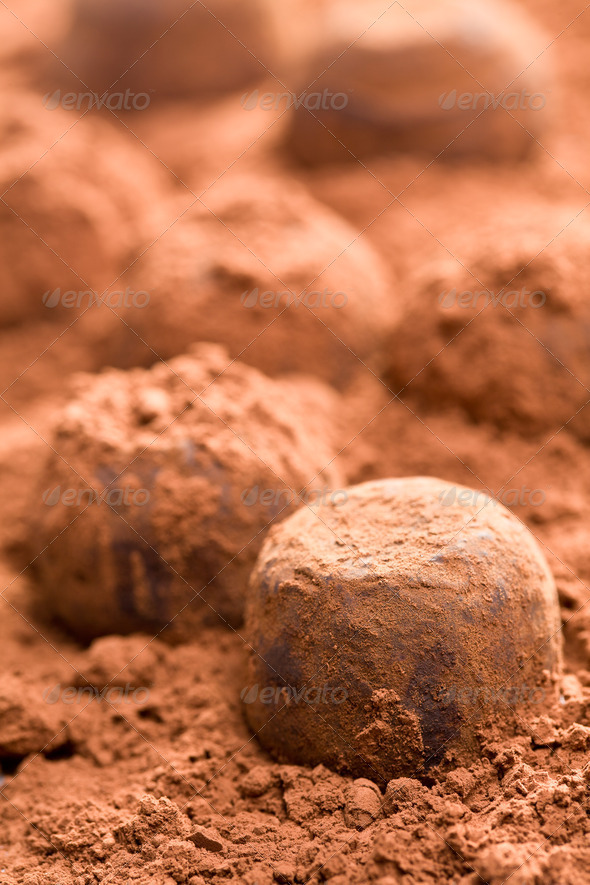 chocolate truffles - Stock Photo - Images