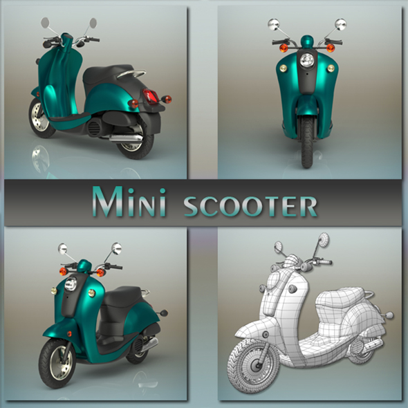 Mini scooter - 3DOcean Item for Sale