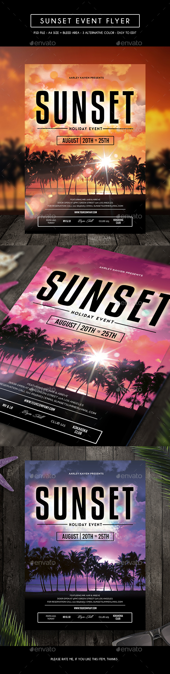 Sunset Event Flyer - Events Flyers